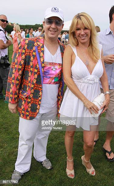 Noah G Pop and Ramona Singer attend the fourth weekend of the 2009 MercedesBenz Polo Challenge at Blue Star Jets Field at Two Trees Farm on August 8...