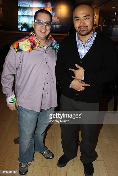 Noah G Pop and Ray Yau attend Jamie Foxx's Best Night of My Life album listening session at The Samsung Experience on December 21 2010 in New York...