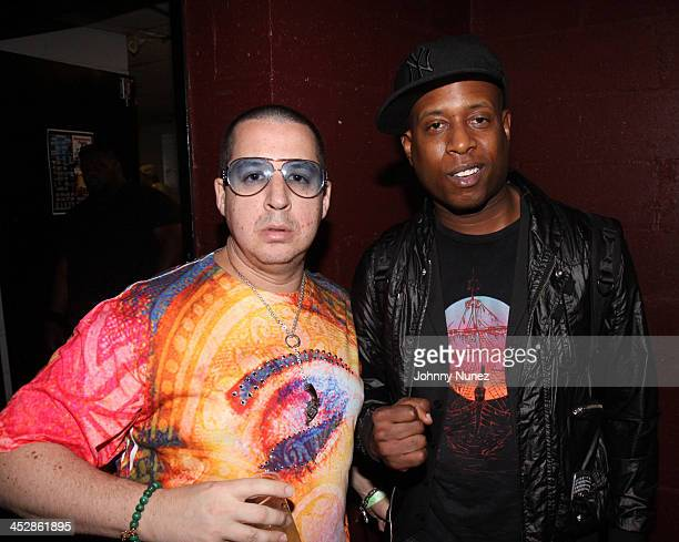 Noah G Pop and Talib Kweli attend the Rock the Bells Presents Tour at BB King Blues Club Grill on August 28 2009 in New York City
