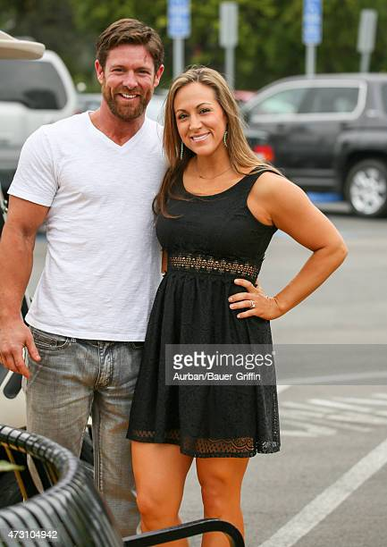 Noah Galloway and Jamie Boyd are seen at 'Extra' on May 12 2015 in Los Angeles California
