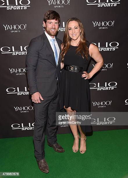 Noah Galloway and Jamie Boyd attend the 2015 CLIO Sports Awards at Cipriani 42nd Street on July 8 2015 in New York City