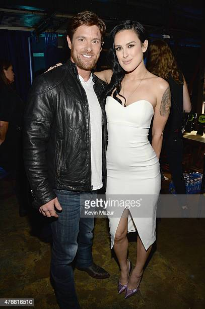 Noah Galloway and Rumer Willis attend the 2015 CMT Music awards at the Bridgestone Arena on June 10 2015 in Nashville Tennessee