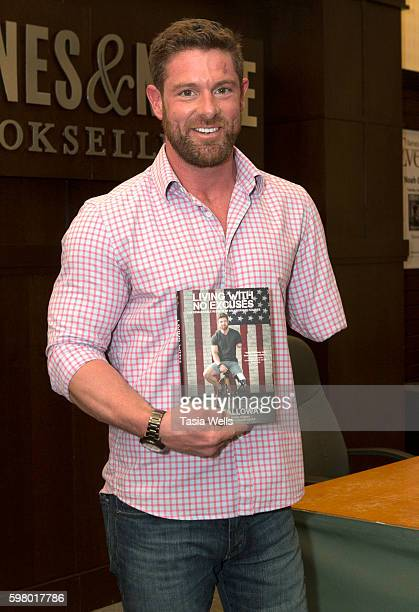 Noah Galloway attends his book signing for Living With No Excuses at Barnes Noble at The Grove on August 30 2016 in Los Angeles California