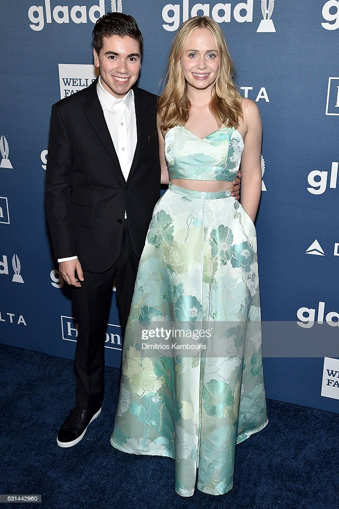 Noah Galvin (L) and Tessa Albertson attend the 27th Annual GLAAD Media Awards in New York on May 14, 2016 in New York City.