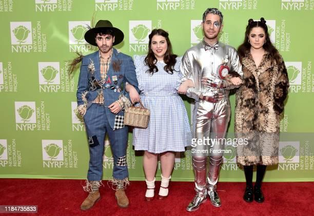 Noah Galvin Beanie Feldstein Ben Platt and Molly Gordon attend Bette Midler's 2019 Hulaween at New York Hilton Midtown on October 31 2019 in New York...