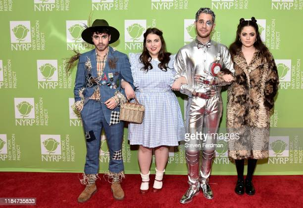 Noah Galvin, Beanie Feldstein, Ben Platt, and Molly Gordon attend Bette Midler's 2019 Hulaween at New York Hilton Midtown on October 31, 2019 in New...