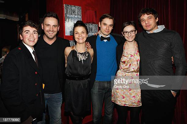 Noah Galvin playwright Daniel Talbott Kathryn Erbe Seth Numrich Libby Woodbridge and director Pedro Pascal attend the 'Yosemite' opening night after...