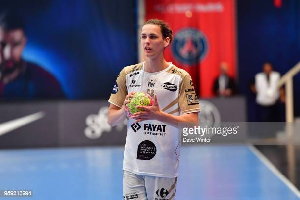 Noah Gaudin of Aix during the Lidl StarLigue match between Paris Saint Germain and Aix at Salle Pierre Coubertin on May 16 2018 in Paris France