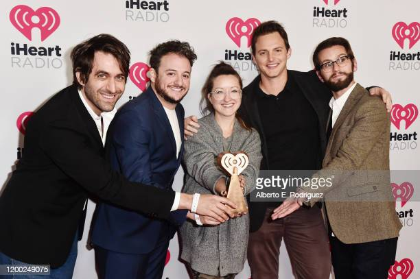 Noah Gersh Jamie Schefman Tess Ryan Rob Herting and David Henning attends the 2020 iHeartRadio Podcast Awards at the iHeartRadio Theater on January...