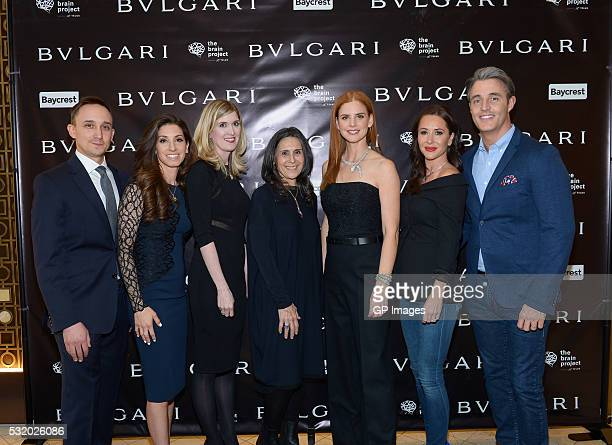 Noah Godfrey Erica Godfrey Aarrynne DokkenIsgar Pascale Girardin Sarah Rafferty Jessica Mulroney and Ben Mulroney attend the Bulgari Intimate and...