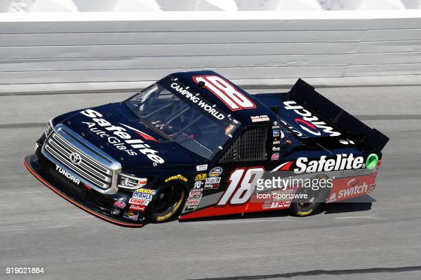 Noah Gragson Kyle Busch Motorsports Safelite Autoglass Toyota Tundra during practice for the NextEra Energy Resources 250 NASCAR Camping World Truck...