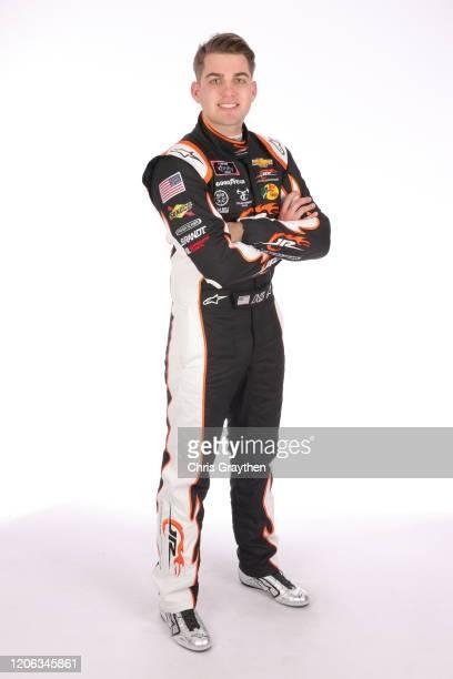 Noah Gragson poses for a photo at Daytona International Speedway on February 13 2020 in Daytona Beach Florida