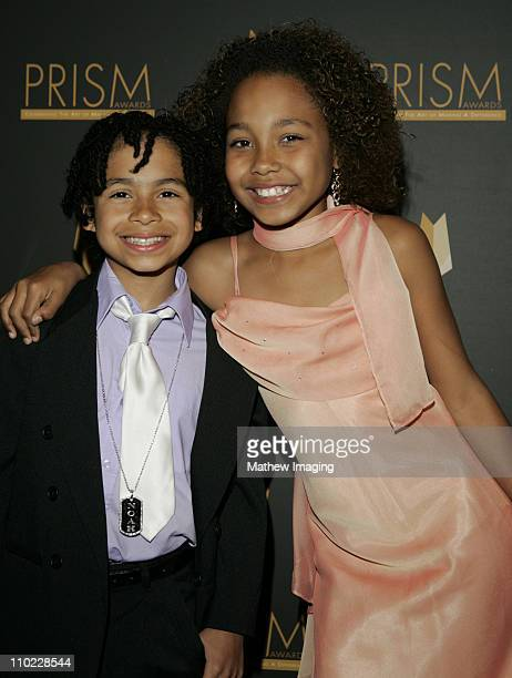 Noah GrayCabey and Parker McKenna Posey during The 9th Annual PRISM Awards Arrivals at The Beverly Hills Hotel in Beverly Hills California United...