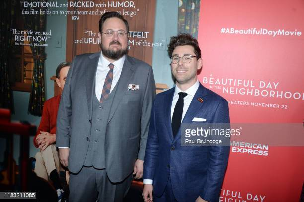 Noah Harpster and Micah FizermanBlue attend New York Special Screening Of A Beautiful Day In The Neighborhood at Henry R Luce Auditorium at...