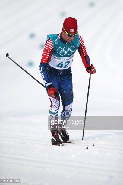 Noah Hoffman of United States is seen during the Men's 50km Mass Start Classic at Alpensia CrossCountry Centre on February 24 2018 in Pyeongchanggun...