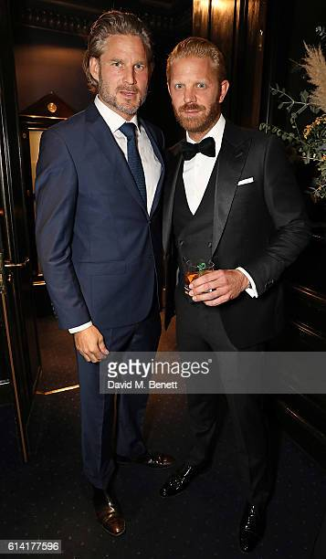 Noah Huntley and Alistair Guy attend a private dinner in celebration of the Vestiaire Collective Men at Tramp on October 12 2016 in London England