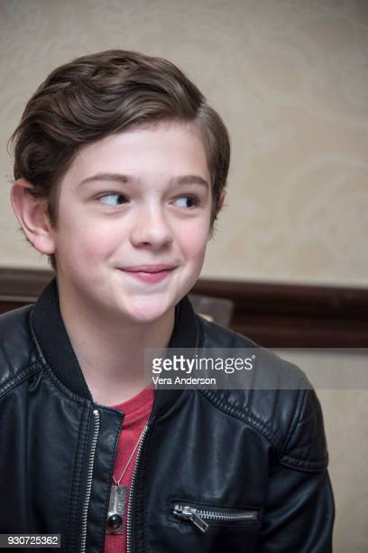 Noah Jupe at 'A Quiet Place' Press Conference at the Omni Hotel on March 10 2018 in Austin Texas