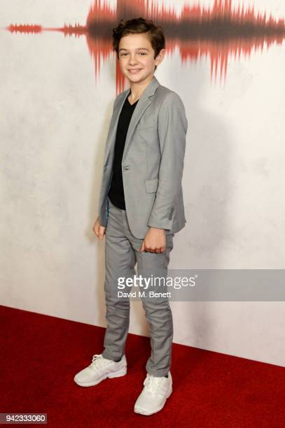 Noah Jupe attends an immersive fan screening of A Quiet Place at The Curzon Soho on April 5 2018 in London England