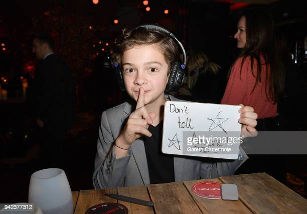 Noah Jupe attends an immersive VIP Fan Screening of 'A Quiet Place' on April 5 2018 in London England
