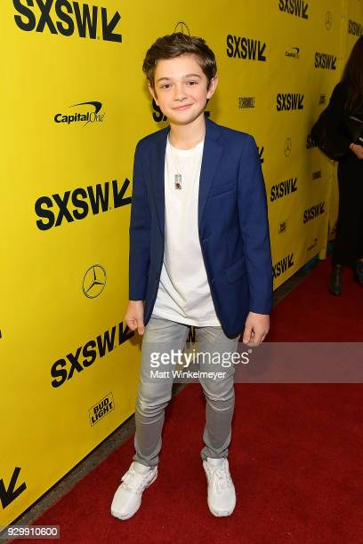 Noah Jupe attends the A Quiet Place Premiere 2018 SXSW Conference and Festivals at Paramount Theatre on March 9 2018 in Austin Texas