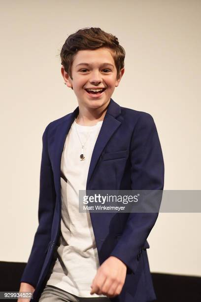Noah Jupe attends the 'A Quiet Place' Premiere 2018 SXSW Conference and Festivals at Paramount Theatre on March 9 2018 in Austin Texas