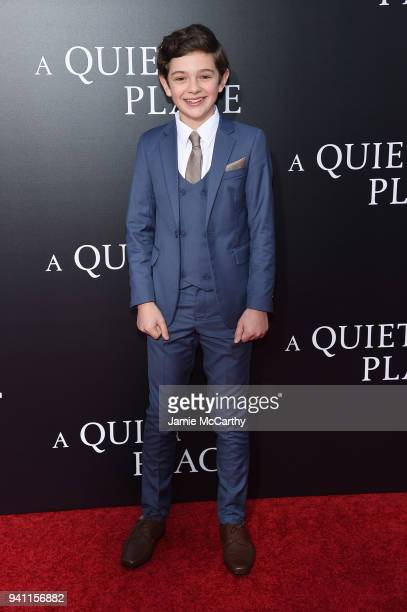 Noah Jupe attends the premiere for 'A Quiet Place' at AMC Lincoln Square Theater on April 2 2018 in New York City