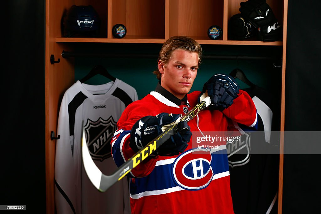 Noah Juulsen poses for a portrait after being selected ...