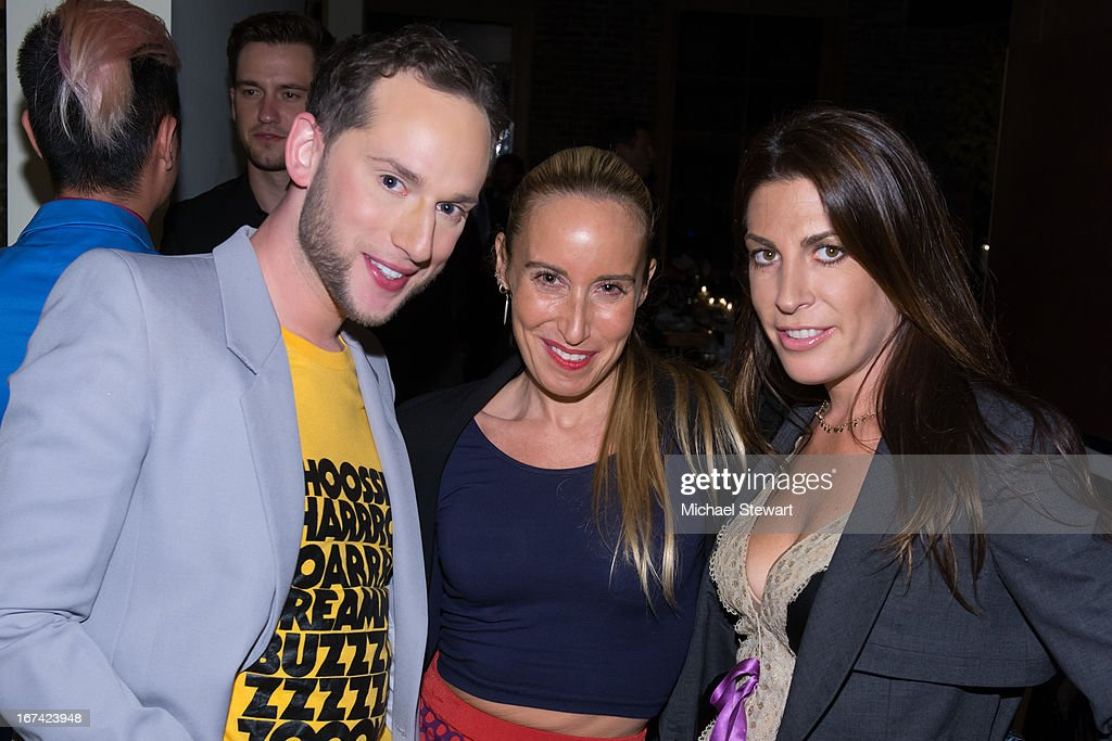 Noah Levy, Ali Smith and Jessica Meisels attend Alvin Valley 'Belle De Jour' Intimate Dinner Party on April 24, 2013 in New York City.