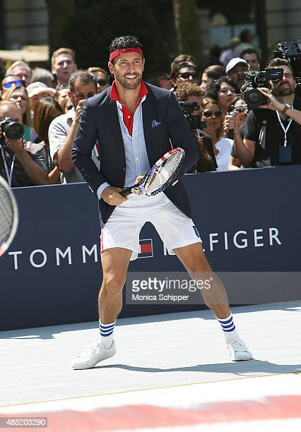 Noah Mills attends the Tommy Hilfiger And Rafael Nadal Global Brand Ambassadroship Launch Event at Bryant Park on August 25 2015 in New York City