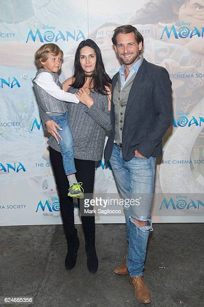 Noah Rev Lucas Jessica Ciencin Henriquez and Actor Josh Lucas attend the Disney Special Screening Of 'Moana' at Metrograph on November 20 2016 in New...