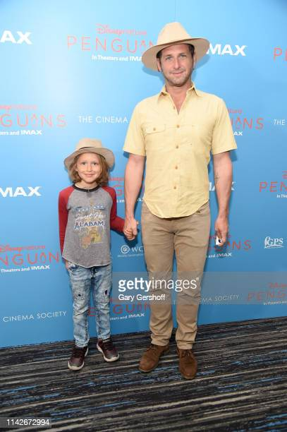 Noah Rev Maurer and actor Josh Lucas attend the Disneynature and Cinema Society special screening of 'Penguins' at AMC Lincoln Square Theater on...