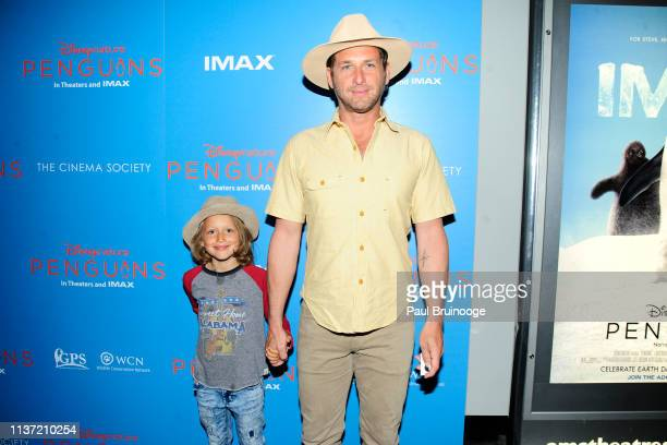 Noah Rev Maurer and Josh Lucas attend Disneynature and The Cinema Society host a special screening of Penguins at AMC Lincoln Square Theater on April...