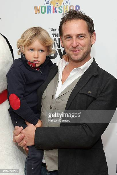Noah Rev Maurer and Josh Lucas attend the Peanuts movie and BuildABear Workshop special screening at Crosby Street Hotel on November 1 2015 in New...