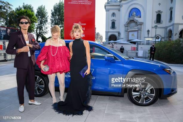 Noah Saavedra LuisaCéline Gaffron and Mala Emde arrive on the red carpet ahead of the Un Morgen Die Ganze Welt screening during the 77th Venice Film...