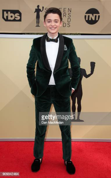 Noah Schnapp arrives at the 24th Annual Screen Actors Guild Awards at The Shrine Auditorium on January 21 2018 in Los Angeles California