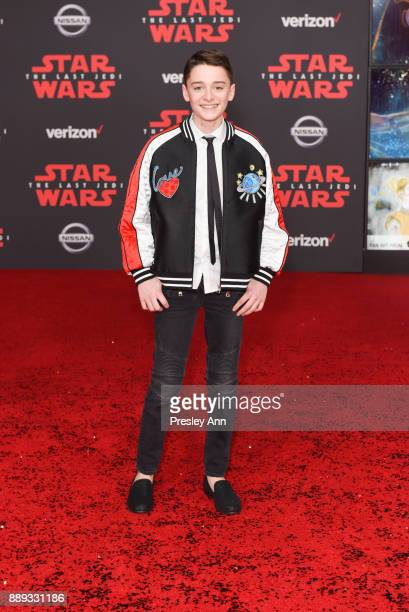 Noah Schnapp attends Premiere Of Disney Pictures And Lucasfilm's 'Star Wars The Last Jedi' Arrivals at The Shrine Auditorium on December 9 2017 in...