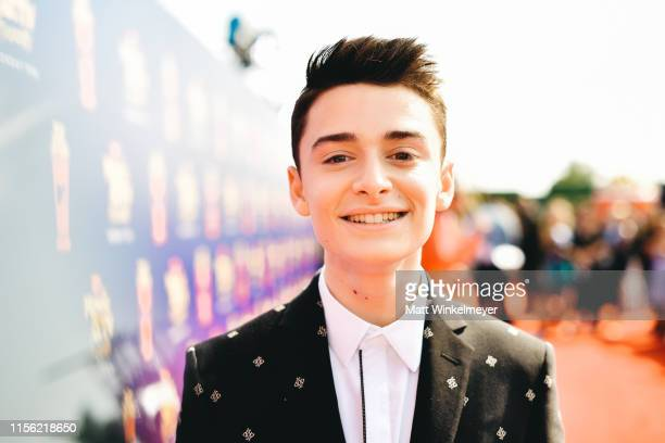 Noah Schnapp attends the 2019 MTV Movie and TV Awards at Barker Hangar on June 15 2019 in Santa Monica California