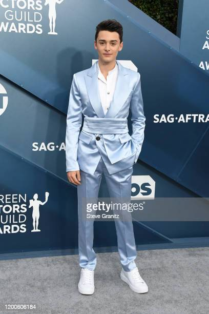 Noah Schnapp attends the 26th Annual Screen Actors Guild Awards at The Shrine Auditorium on January 19 2020 in Los Angeles California