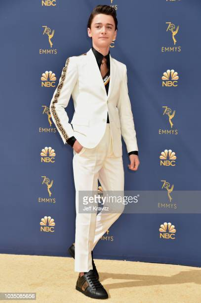 Noah Schnapp attends the 70th Emmy Awards at Microsoft Theater on September 17 2018 in Los Angeles California