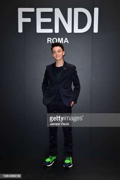 Noah Schnapp attends the Fendi show during Milan Menswear Fashion Week Autumn/Winter 2019/20 on January 14 2019 in Milan Italy