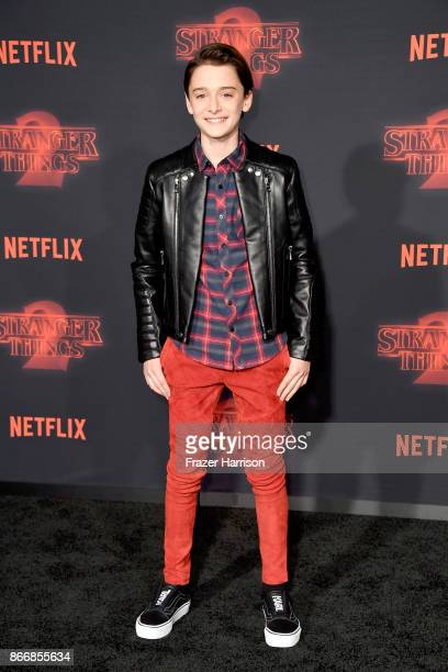 Noah Schnapp attends the premiere of Netflix's Stranger Things Season 2 at Regency Bruin Theatre on October 26 2017 in Los Angeles California