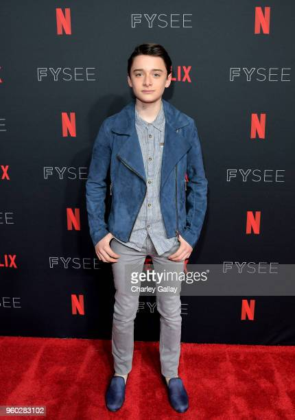 "Noah Schnapp attends The ""Stranger Things 2"" Panel At Netflix FYSEE on May 19, 2018 in Los Angeles, California."