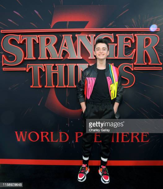 Noah Schnapp attends the Stranger Things Season 3 World Premiere on June 28 2019 in Santa Monica California