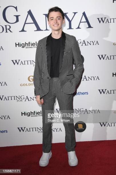 Noah Schnapp attends the Waiting For Anya Gala Screening at Vue Leicester Square on February 12 2020 in London England