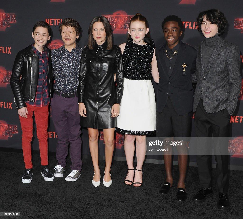 "Premiere Of Netflix's ""Stranger Things"" Season 2 - Arrivals : News Photo"