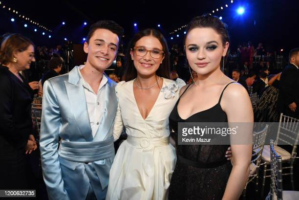 Noah Schnapp, Millie Bobby Brown, and Joey King attend the 26th Annual Screen ActorsGuild Awards at The Shrine Auditorium on January 19, 2020 in Los...