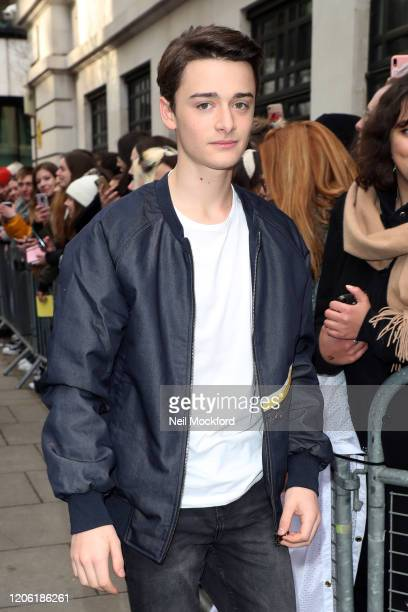 Noah Schnapp seen at BBC Radio 2 on February 14 2020 in London England