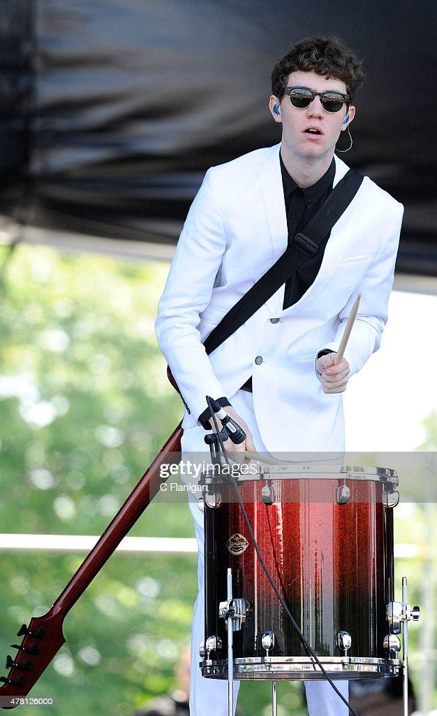 Noah Sierota of Echosmith performs during the 2015 Governors Ball Music Festival at Randall's Island on June 7, 2015 in New York City.