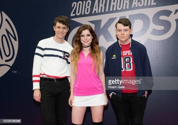 Noah Sierota, Sydney Sierota and Jamie Sierota of Echosmith attend the 2018 Arthur Ashe Kids' Day at USTA Billie Jean King National Tennis Center on...