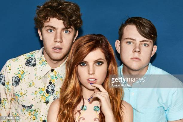 Noah Sydney and Graham Sierota of Echosmith are photographed for Billboard Magazine on August 20 2017 at the Billboard Hot 100 Music Festival at...